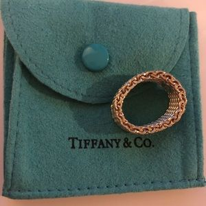 Authentic Tiffany & Co. Silver Mesh Ring Size 6